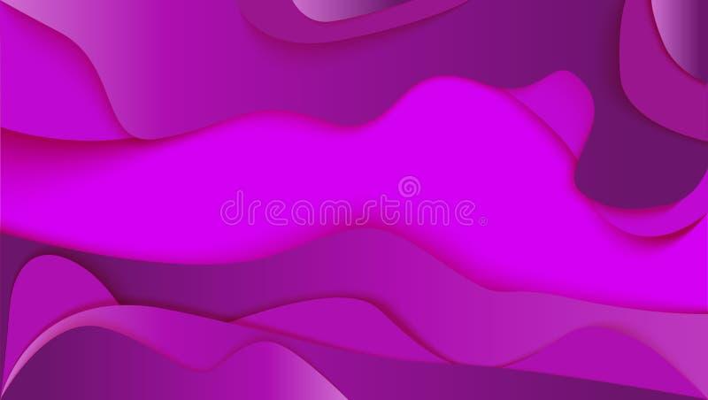 иллюстрация бумаги 3d абстрактная Пурпуровая предпосылка иллюстрация штока