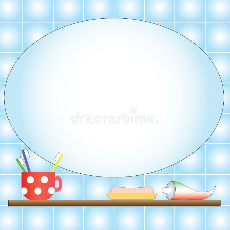 иллюстрация ванной комнаты иллюстрация вектора