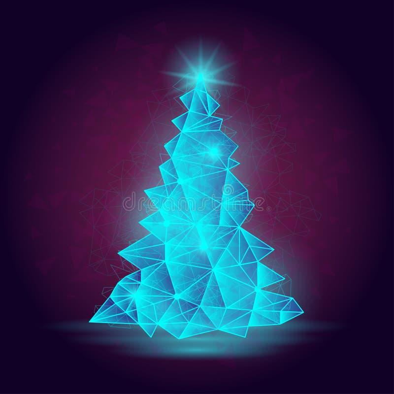 Иллюстрация вектора абстрактной рождественской елки Изображение соответствующее для плаката или знамени сезона зимы бесплатная иллюстрация