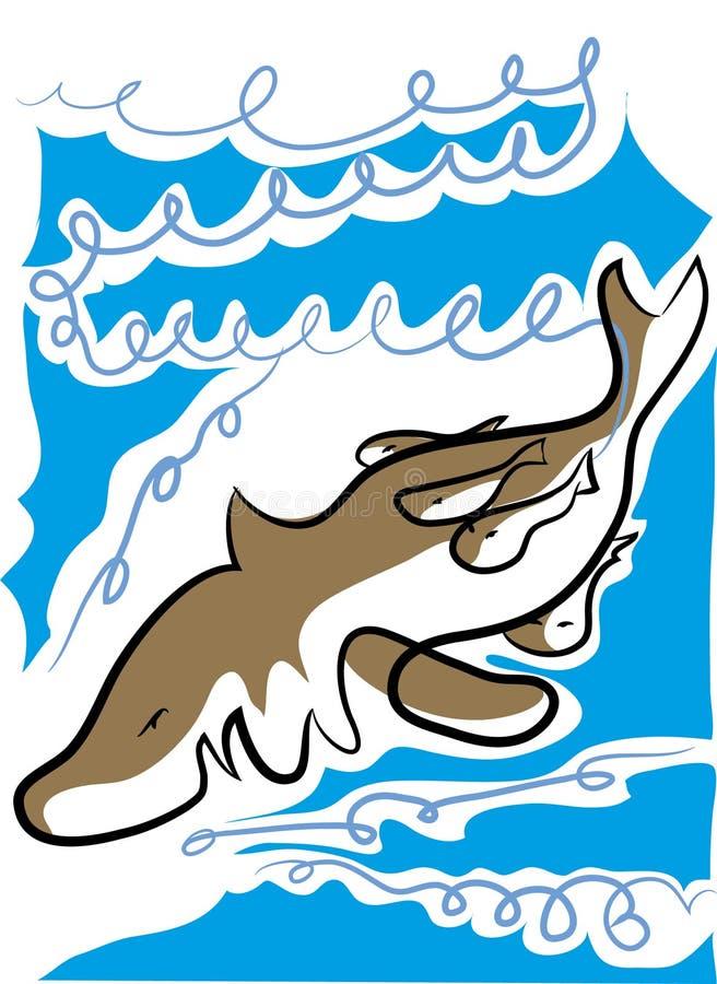 Иллюстрация вектора акулы иллюстрация вектора