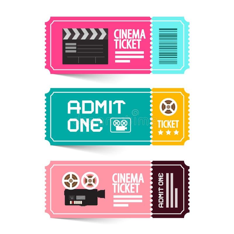 Иллюстрация вектора билета кино иллюстрация вектора