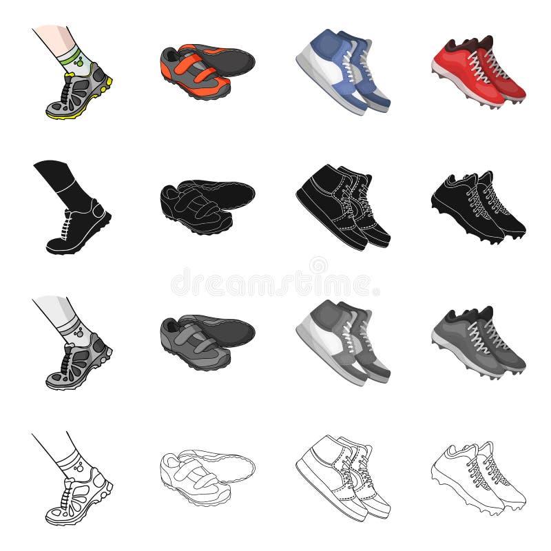 Иллюстрация вектора ботинка и знака спорта Собрание ботинка и иллюстрации вектора запаса фитнеса иллюстрация вектора
