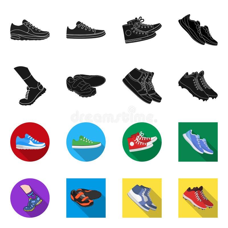 Иллюстрация вектора ботинка и значка спорта Собрание ботинка и значок вектора фитнеса для запаса иллюстрация вектора