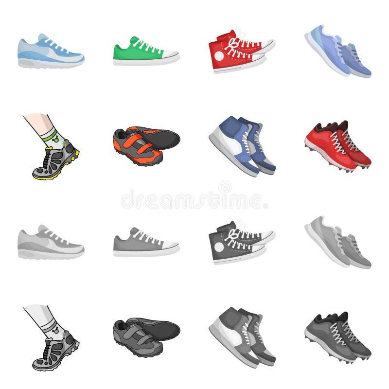 Иллюстрация вектора ботинка и символа спорта Собрание ботинка и иллюстрации вектора запаса фитнеса бесплатная иллюстрация