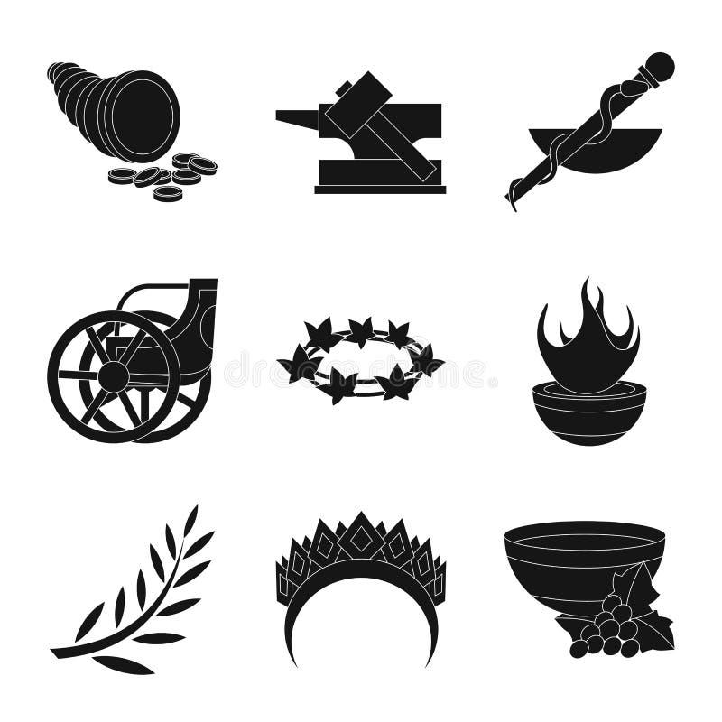 Иллюстрация вектора вероисповедания и мифы подписывают Собрание вероисповедания и греческий значок вектора для запаса иллюстрация вектора