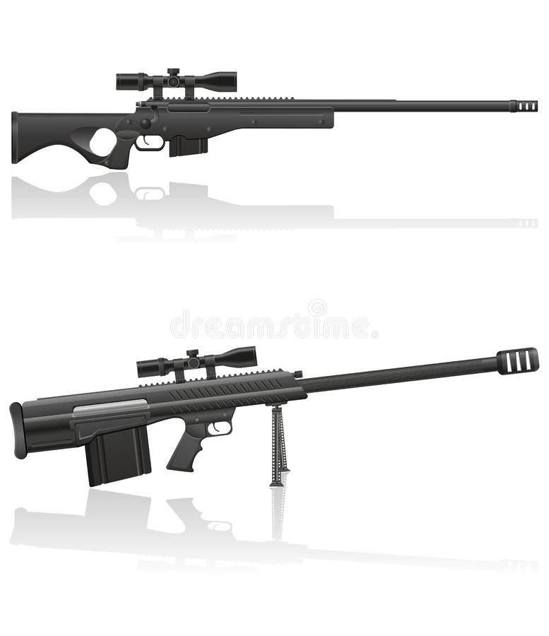 Иллюстрация вектора винтовки снайпера иллюстрация вектора