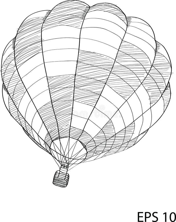 Иллюстрация вектора воздушного шара Doodle горячая иллюстрация штока