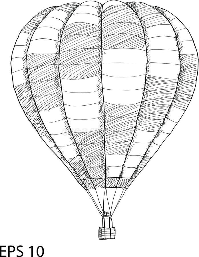 Иллюстрация вектора воздушного шара Doodle горячая иллюстрация вектора