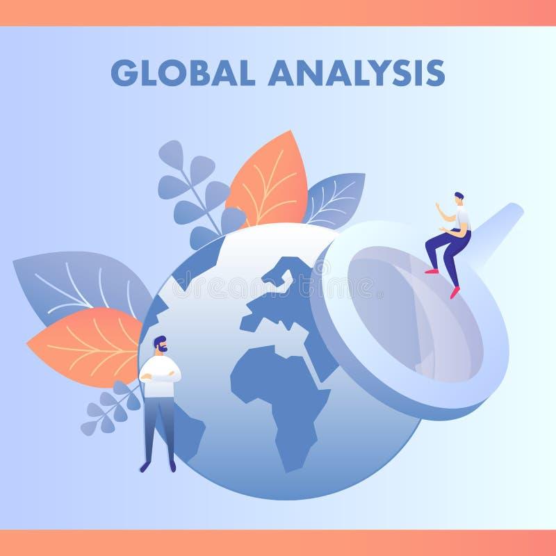 Иллюстрация вектора глобального анализа данных плоская иллюстрация штока