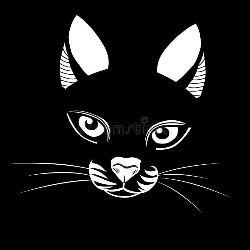 Иллюстрация вектора головы кота бесплатная иллюстрация