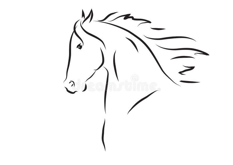 Иллюстрация вектора головы лошади иллюстрация штока