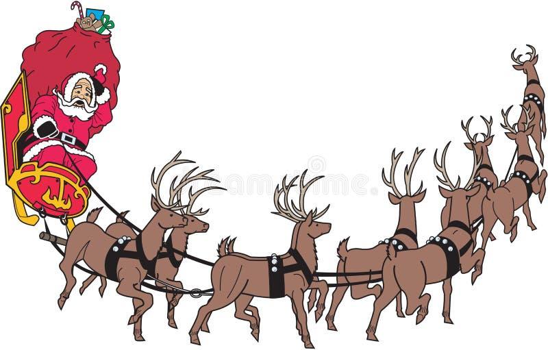 Иллюстрация вектора границы саней Санта иллюстрация штока