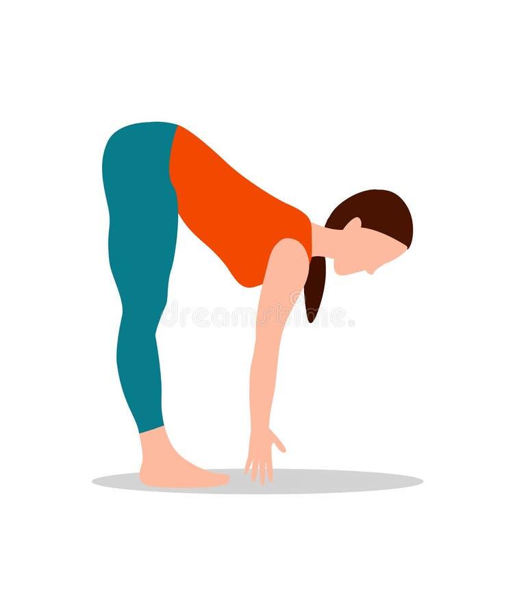 Иллюстрация вектора деятельности при йоги представления горы иллюстрация вектора