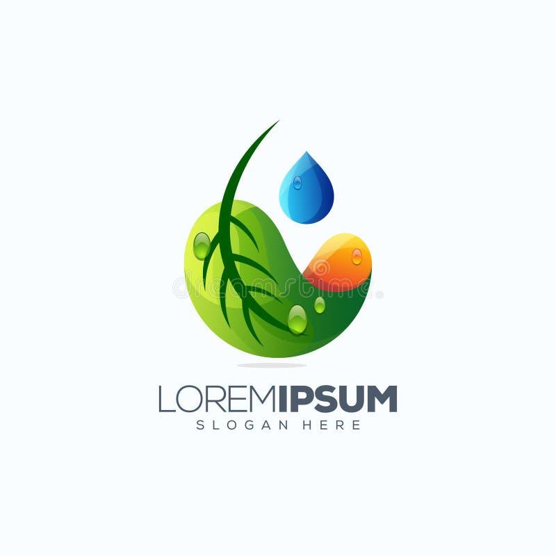 Иллюстрация вектора дизайна логотипа лист готовая для использования бесплатная иллюстрация