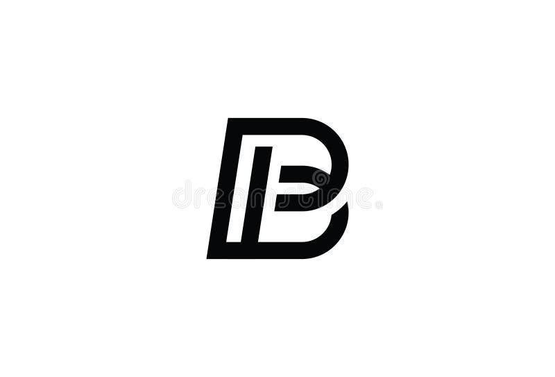 Иллюстрация вектора дизайна логотипа b письма иллюстрация вектора