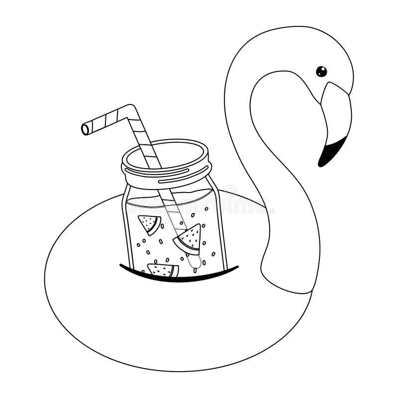 Иллюстрация вектора дизайна поплавка фламинго лета иллюстрация штока