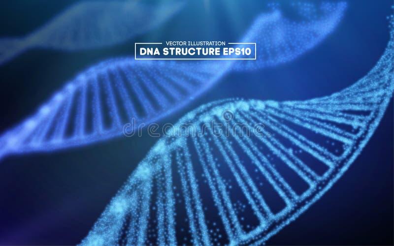 Иллюстрация вектора ДНК генома Структура EPS 10 ДНК Геном sequencing концепция редактирования gmo и генома иллюстрация штока