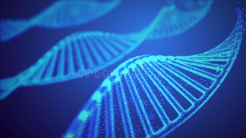 Иллюстрация вектора ДНК генома Структура EPS 10 ДНК Геном sequencing концепция редактирования gmo и генома бесплатная иллюстрация