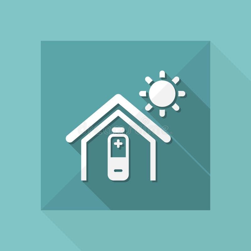 Иллюстрация вектора естественного значка энергии eco бесплатная иллюстрация