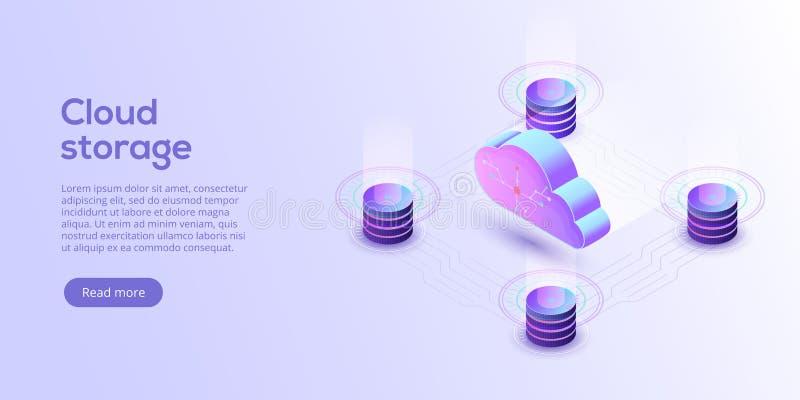Иллюстрация вектора загрузки хранения облака равновеликая Se цифров иллюстрация вектора