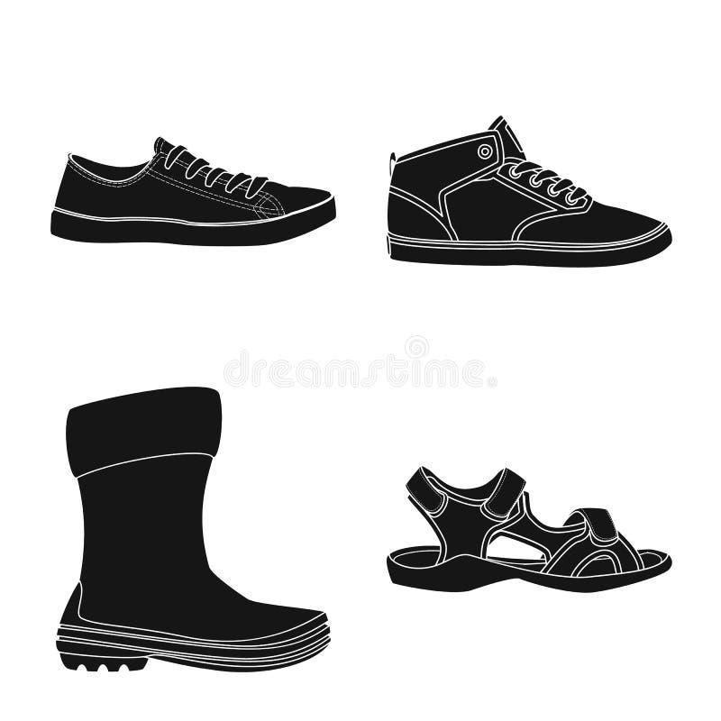 Иллюстрация вектора знака ботинка и обуви Собрание сокращенного названия выпуска акций ботинка и ноги для сети бесплатная иллюстрация