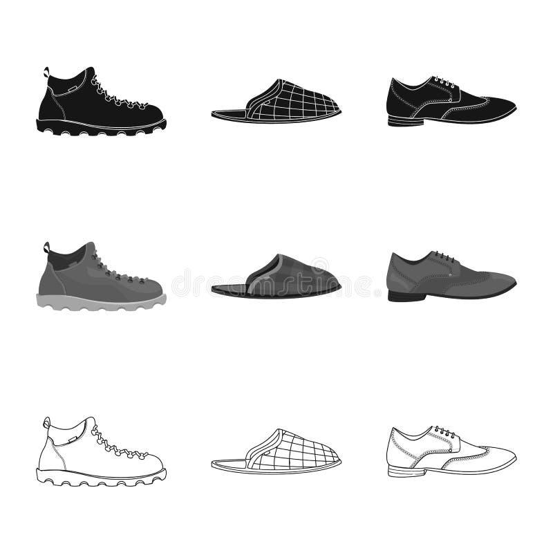 Иллюстрация вектора знака ботинка и обуви r иллюстрация штока