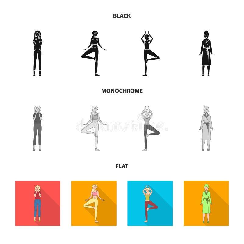 Иллюстрация вектора знака позиции и настроения Собрание позиции и женской иллюстрации вектора запаса бесплатная иллюстрация
