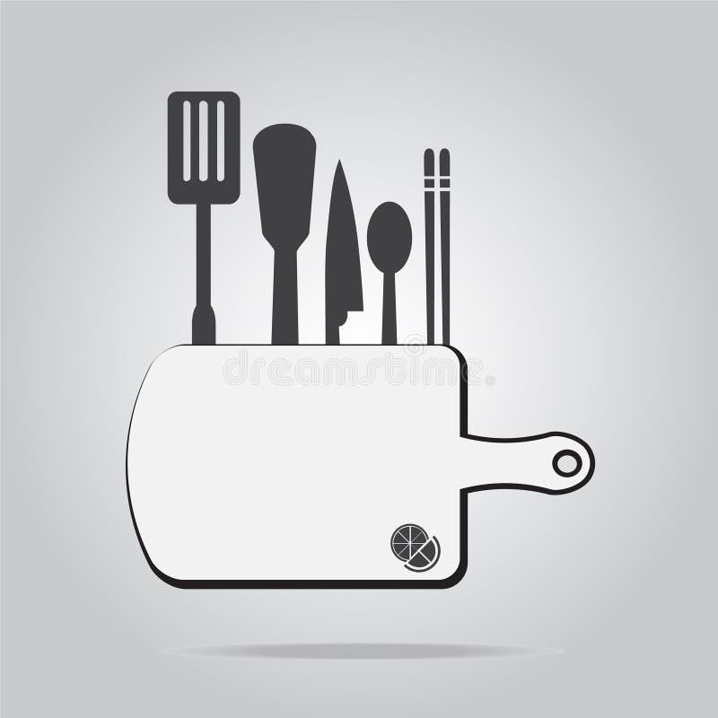 Иллюстрация вектора знака утварей кухни бесплатная иллюстрация