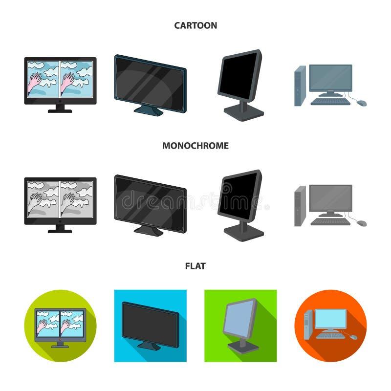 Иллюстрация вектора знака экрана и компьютера Собрание сокращенного названия выпуска акций экрана и модель-макета для сети иллюстрация вектора