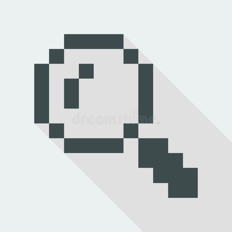 Иллюстрация вектора значка компьютера пиксела бесплатная иллюстрация