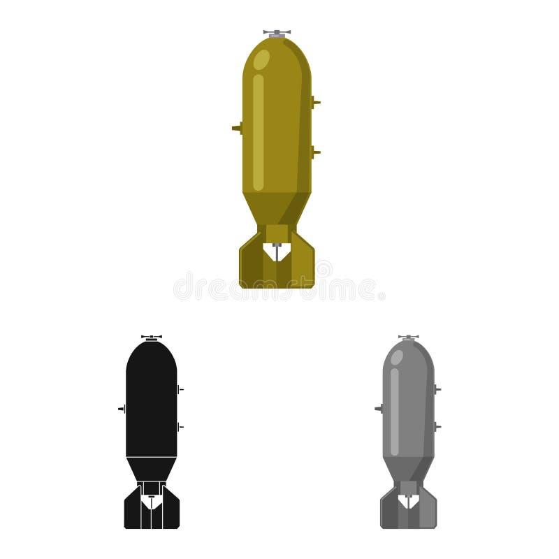 Иллюстрация вектора значка оружия и оружия Собрание значка вектора оружия и армии для запаса иллюстрация штока