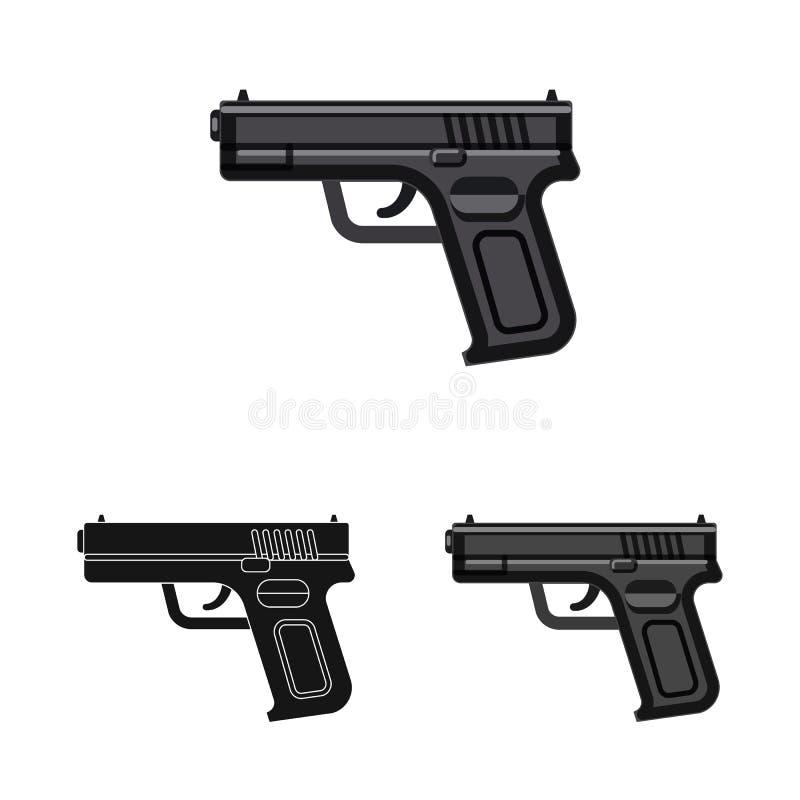 Иллюстрация вектора значка оружия и оружия Собрание иллюстрации вектора запаса оружия и армии иллюстрация штока