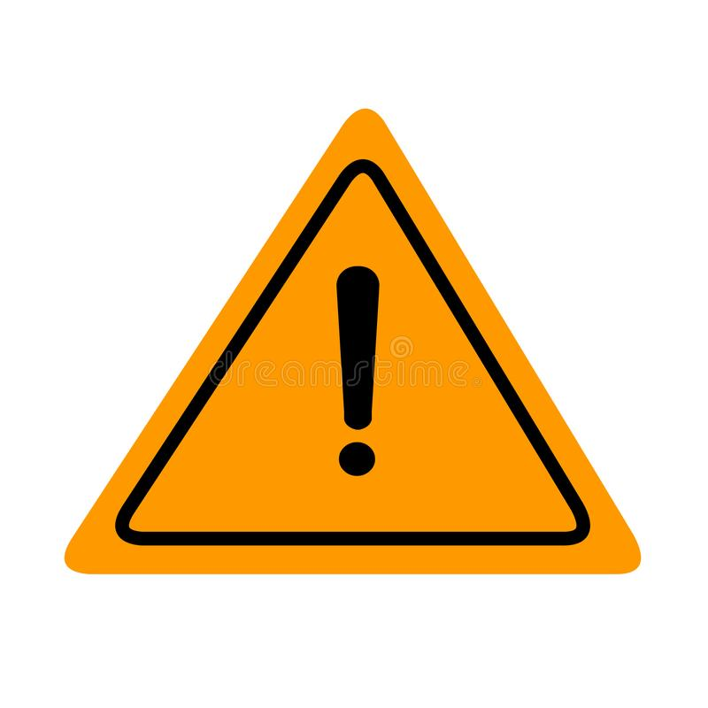 Иллюстрация вектора значка предосторежения Желтый знак доски иллюстрация вектора