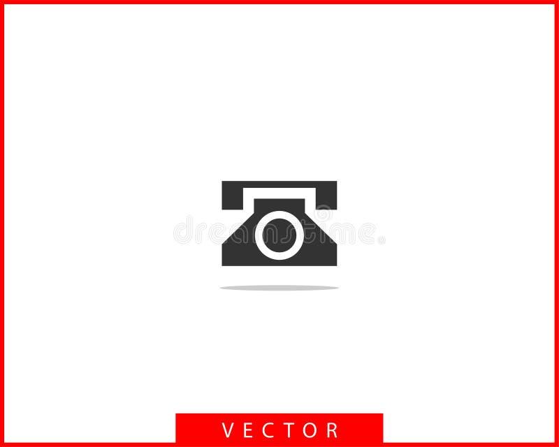 Иллюстрация вектора значка телефона Приложение центра телефонного обслуживания Стиль значков телефона ультрамодный плоский Свяжит иллюстрация штока