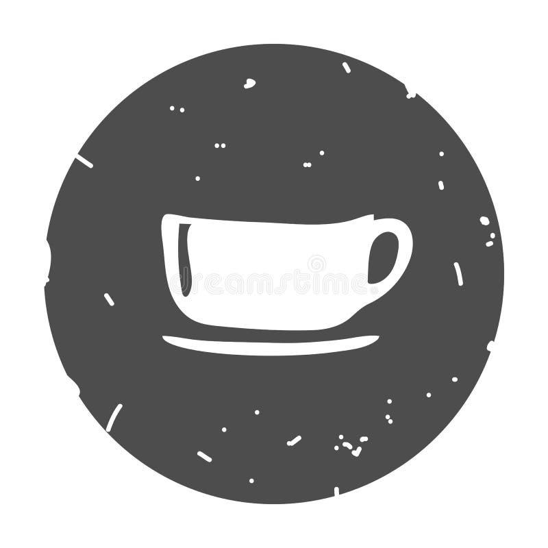 Иллюстрация вектора значка чашки иллюстрация штока