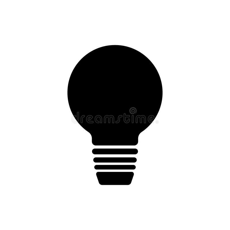 Иллюстрация вектора значка электрической лампочки бесплатная иллюстрация
