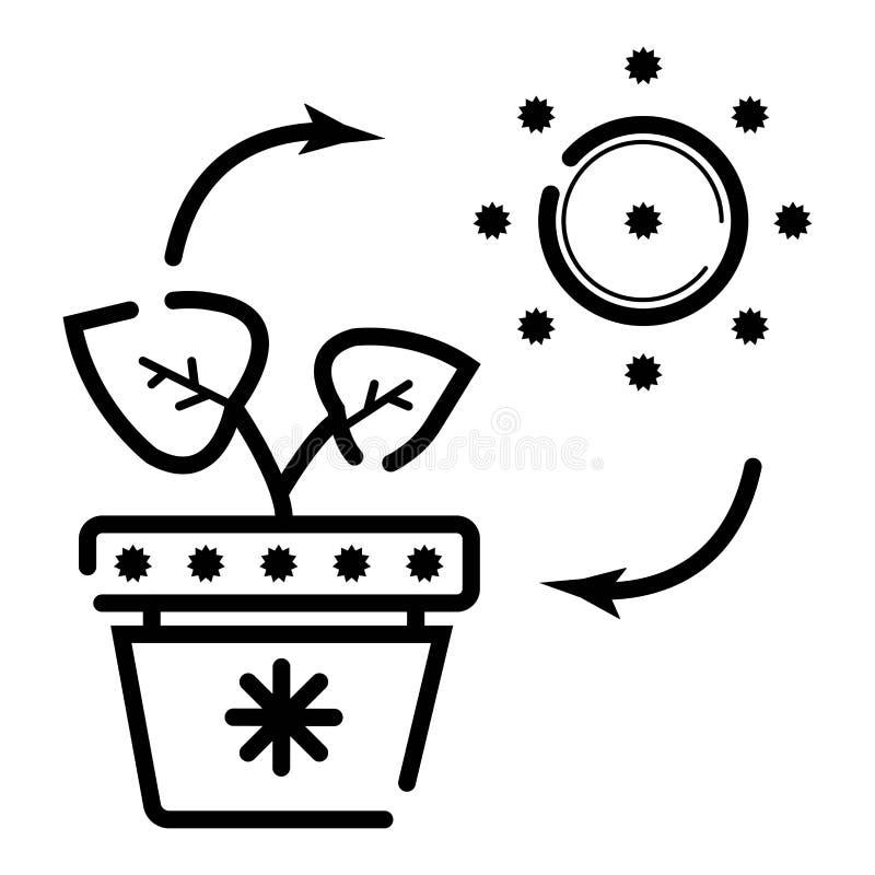 Иллюстрация вектора значка энергии Eco иллюстрация штока