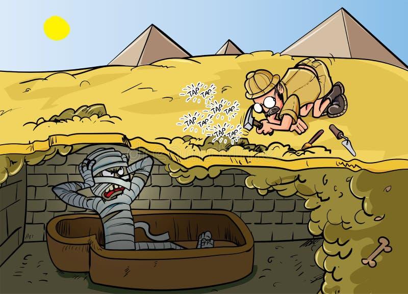 Иллюстрация вектора зомби шаржа стоковое фото rf