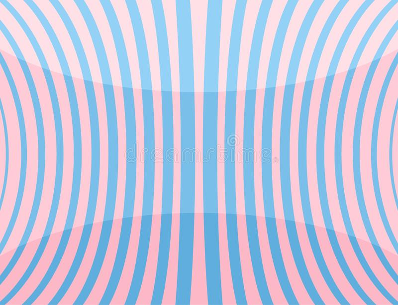 Иллюстрация вектора изогнутых голубых линий на розовой предпосылке иллюстрация штока
