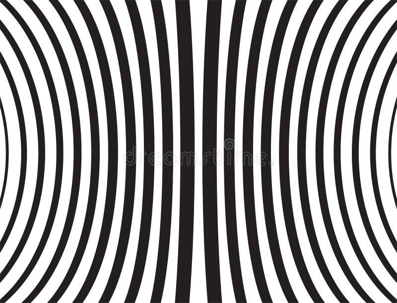 Иллюстрация вектора изогнутых черных линий на белой предпосылке бесплатная иллюстрация