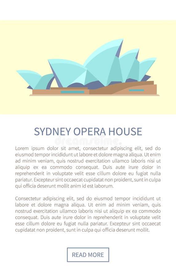 Иллюстрация вектора интернет-страницы оперного театра Сиднея иллюстрация вектора