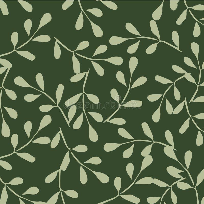 Иллюстрация вектора картины листьев иллюстрация штока