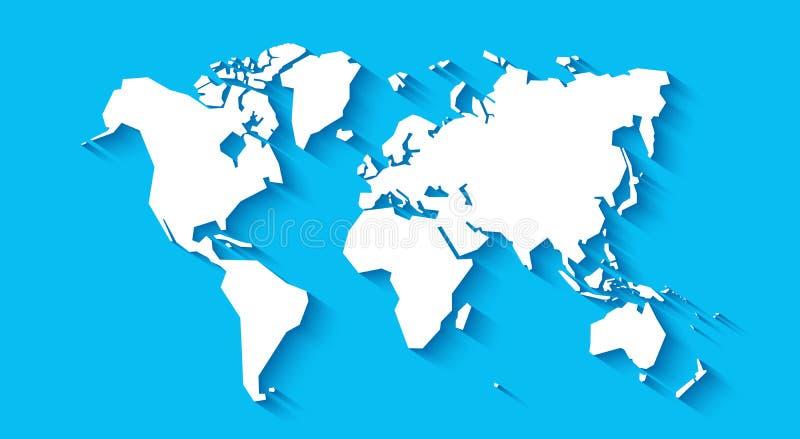 Иллюстрация вектора карты мира иллюстрация вектора