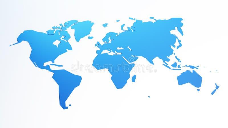Иллюстрация вектора карты мира иллюстрация штока