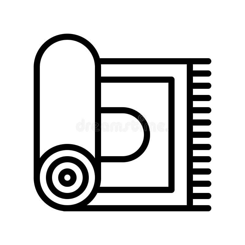 Иллюстрация вектора ковра, Рамазан связала линия значок бесплатная иллюстрация