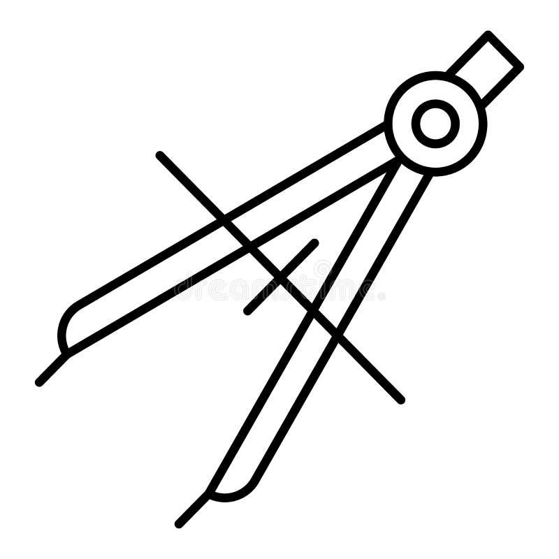Иллюстрация вектора компаса чертежа Плоская иллюстрация плана 10 eps иллюстрация вектора