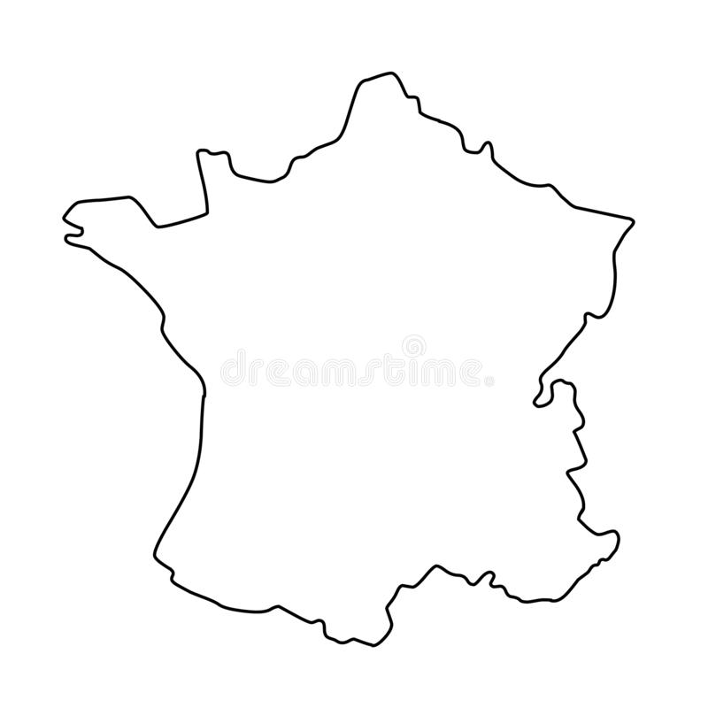 Иллюстрация вектора контурной карты Франции иллюстрация вектора