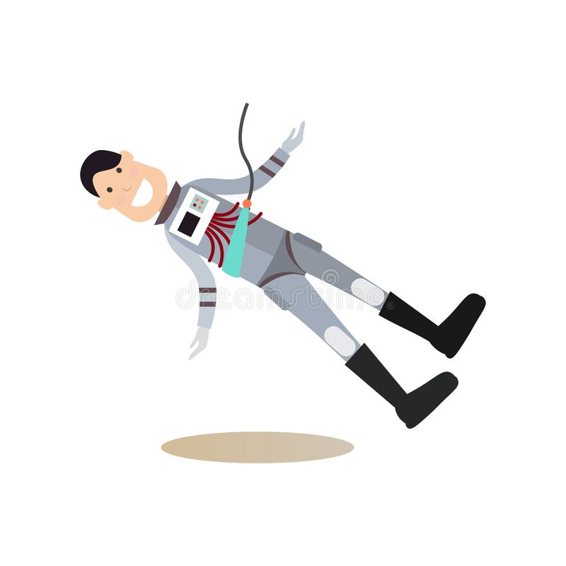 Иллюстрация вектора концепции людей космоса плоская иллюстрация вектора