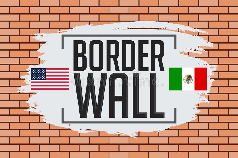 Иллюстрация вектора концепции стены границы иллюстрация вектора