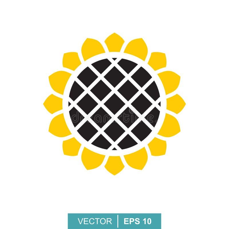 Иллюстрация вектора красочная солнцецвета Богатый сбор фермера иллюстрация штока